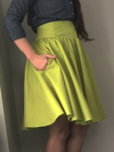 DIY Gathered Circle Skirt from appletreesewing.com